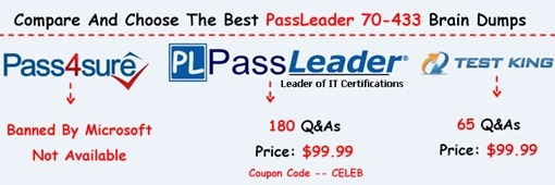 PassLeader 70-433 Exam Dumps[26]