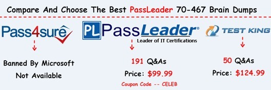 PassLeader 70-467 Brain Dumps[33]