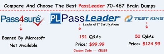 PassLeader 70-467 Brain Dumps[50]